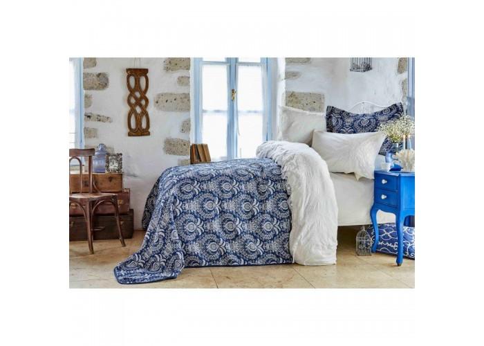 Комплект постельного белья с покрывалом Karaca Home - Elina beyaz 2018-2 белый евро  1