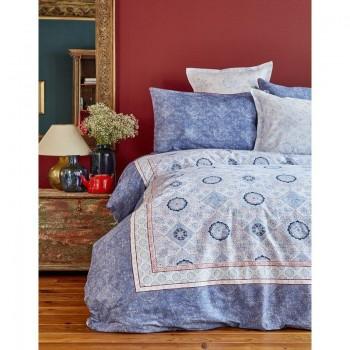Комплект постельного белья Karaca Home - Livio indigo 2018-1 синий евро