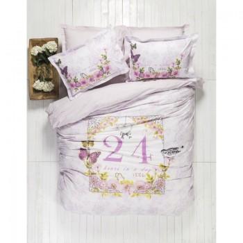 Комплект постельного белья Karaca Home - History лиловый пано полуторное