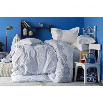 Комплект постельного белья Karaca Home - Simi mavi 2018-2 голубой евро