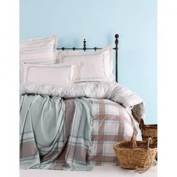 Комплект постельного белья с пледом Karaca Home - Aron 2017-1 евро