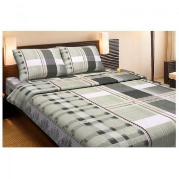 Комплект постельного белья Lotus Ranforce - Alexa зеленый полуторное