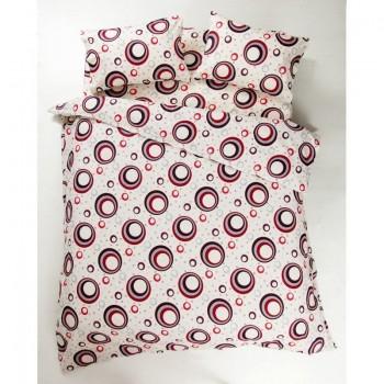 Комплект постельного белья Lotus Ranforce - Circle красный двуспальное