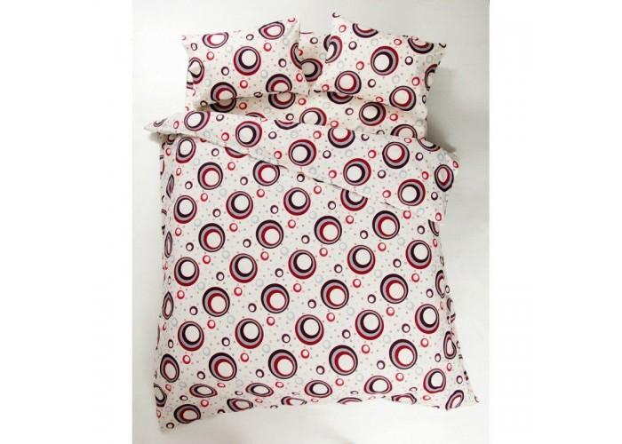 Комплект постельного белья Lotus Ranforce - Circle красный двуспальное  1