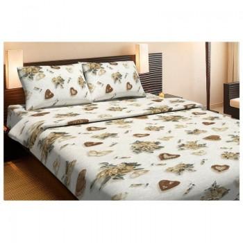Комплект постельного белья Lotus Ranforce - Rachel бежевый евро