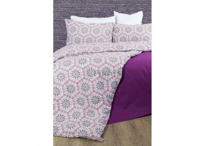 Комплект постельного белья Lotus Premium - Esther красный семейное  1