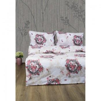Комплект постельного белья Lotus Ranforce - Angelique V1 розовый двуспальное