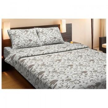 Комплект постельного белья Lotus Ranforce - Clara бежевый двуспальное
