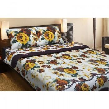Комплект постельного белья Lotus Ranforce - Anne желтый евро