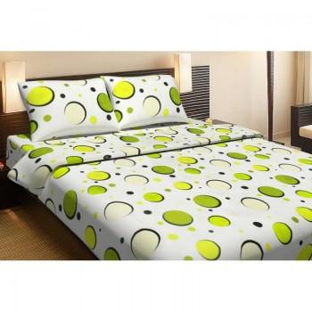 Комплект постельного белья Lotus Ranforce - Balloons зеленый семейное