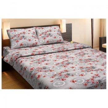 Комплект постельного белья Lotus Ranforce - Osaka красный семейное