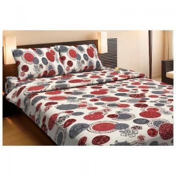 Комплект постельного белья Lotus Ranforce - Shiba красный полуторное
