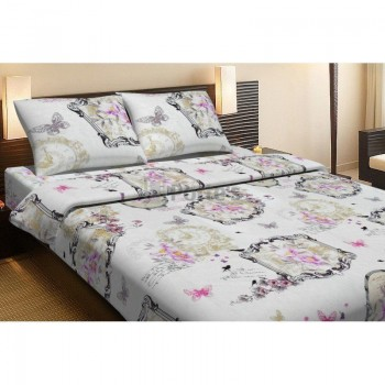 Комплект постельного белья Lotus Life Collection - Ameli бежевое Евро
