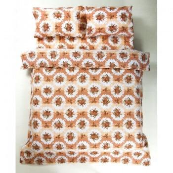 Комплект постельного белья Lotus Ranforce - Bouquet коралловый полуторное
