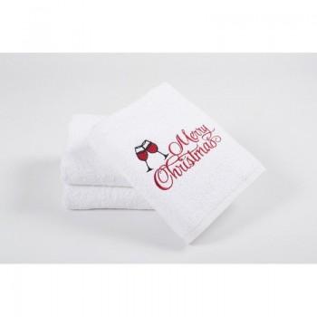 Новогоднее полотенце Lotus 50*90 - Wineglass