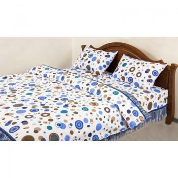Комплект постельного белья Lotus Ranforce - Bubble синий семейное