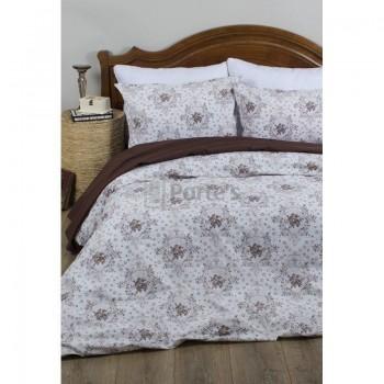 Комплект постельного белья Lotus Premium - Anna бежевый Евро