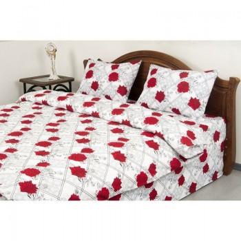 Комплект постельного белья Lotus Ranforce - Carmen V1 красный евро