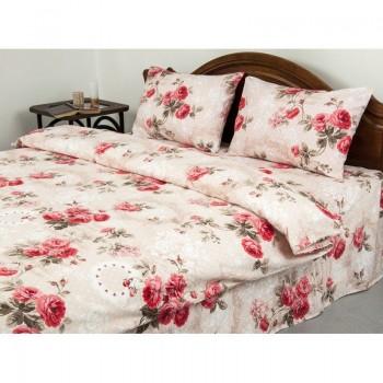 Комплект постельного белья Lotus Ranforce - Eva кофе семейное