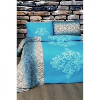 Комплект постельного белья Lotus Ranforce - Chris синий полуторное