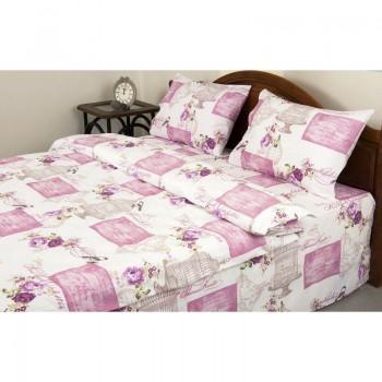 Комплект постельного белья Lotus Ranforce - Veronica розовый семейное