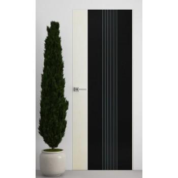 Двери скрытого монтажа iDoors ELEGANCE Clio-wave (Чёрное стекло)
