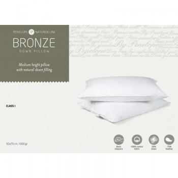 Классическая подушка Penelope Bronze пуховая 30% пух 50*70