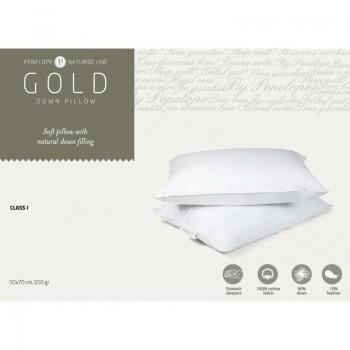 Классическая подушка Penelope Gold New пуховая 90% пух 50*70