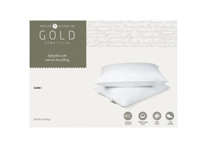 Классическая подушка Penelope Gold New пуховая 90% пух 50*70  1