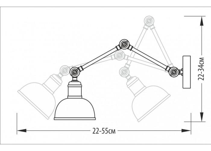 Бра – Настенное бра 3-х поворотное, арт. 2104  2