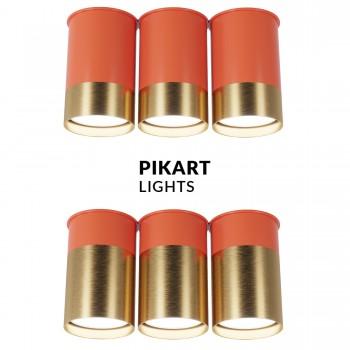 Точечный светильник – Спот ВР тройной Coral Gold, арт. 6353
