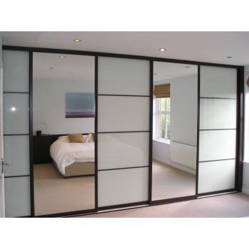 Шкаф-купе с зеркальными дверями под заказ 15