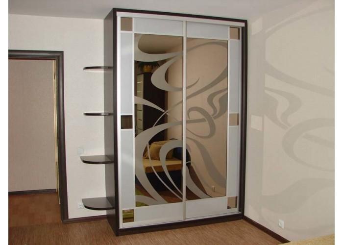 Шкаф купе с пескоструйным рисунком под заказ 23  1