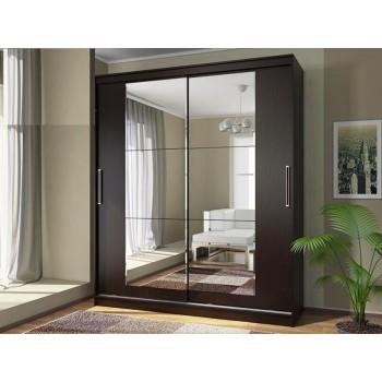 Шкаф-купе с зеркальными дверями под заказ 19