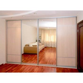 Шкаф-купе с зеркальными дверями под заказ 23