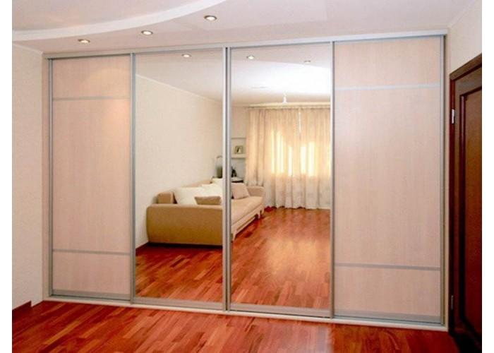 Шкаф-купе с зеркальными дверями под заказ 23  1