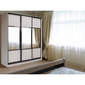 Шкаф-купе с зеркальными дверями под заказ 14