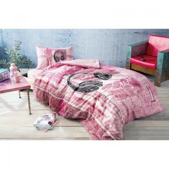 Подростковое постельное белье Tac Ranforce Teen - Listen розовый