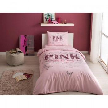 Подростковое постельное белье Tac Ranforce Teen - Pink pembe розовый