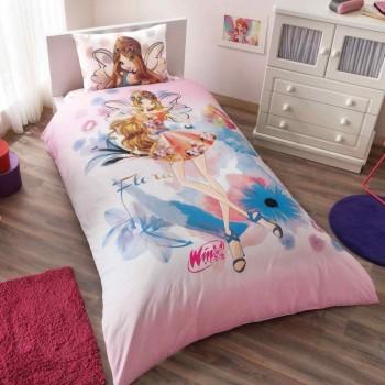 Подростковое постельное белье Tac Disney - Winx Flora Water Colour