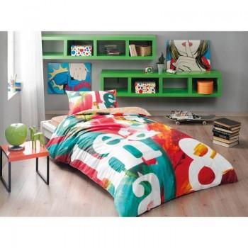 Подростковое постельное белье Tac Ranforce Teen - Pop Art Oranj