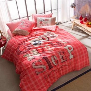 Подростковое постельное белье Tac Ranforce Teen - Good Night розовый