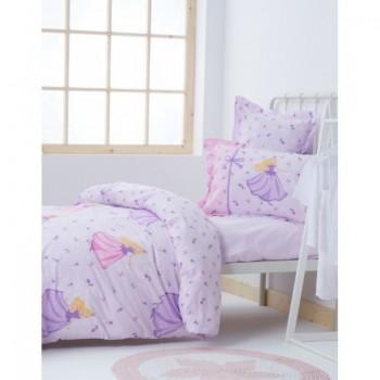 Подростковое постельное белье Karaca Home - Selkie 2017-1 lilac ранфорс