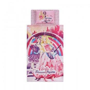 Подростковое постельное белье Tac Disney - Barbie Princess Pop Star