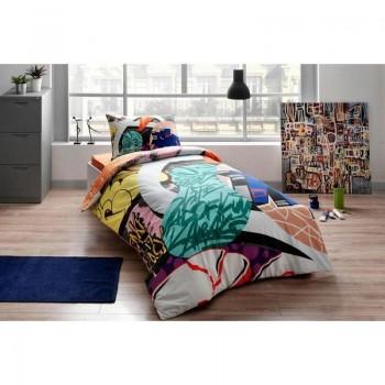 Подростковое постельное белье Tac Ranforce Teen Graffiti - Easy yesil v01 зеленый