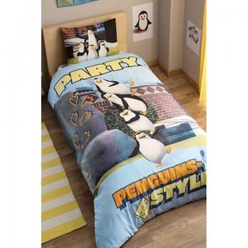 Подростковое постельное белье Tac Disney - Penguins Party
