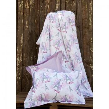 Подростковое постельное белье Lotus Premium B&G - Eifel лиловый