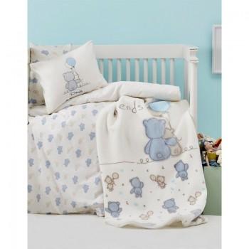 Постельное белье для младенцев Karaca Home - Blue Bears 2018-2