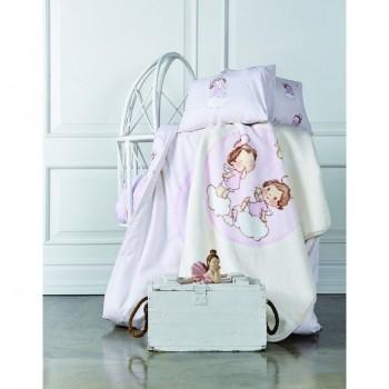 Постельное белье для младенцев Karaca Home - Bulut розовое