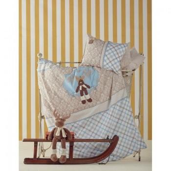 Постельное белье для младенцев Karaca Home - Deer аппликация голубое